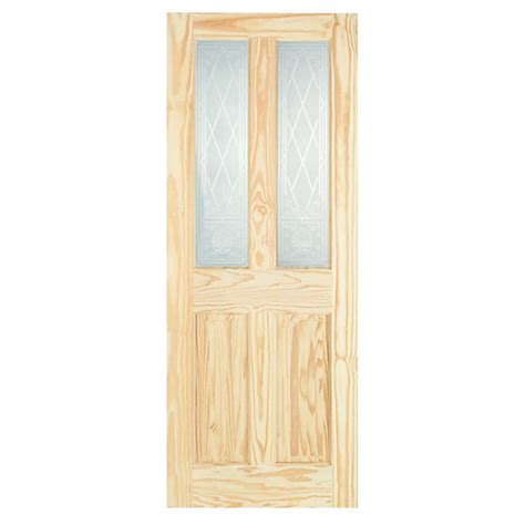 Wickes Interior Doors Wickes Skipton Softwood Door Clear Pine Glazed 4 Panel 1981x762mm Wickes Co Uk