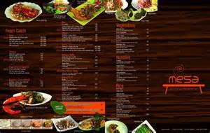 back menu picture of mesa filipino moderne davao city tripadvisor