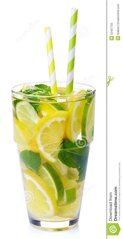 Lemon Lime Mint Detox Water by Detox Water Stock Photo Image 52407755