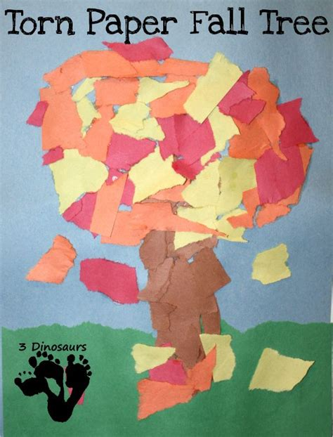 tree pattern for preschool craft torn paper fall tree great fine motor and craft together