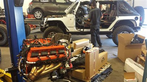 jeep hellcat offroad building two jeep wranglers with a hellcat v8