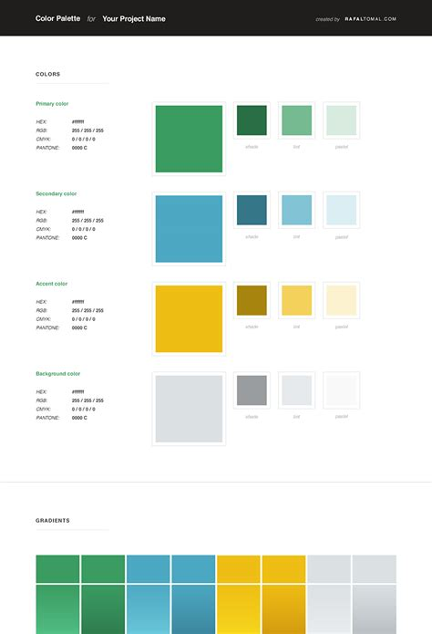 Style Guide Template Word by Free Web Style Guide Psd Template Rafal Tomal