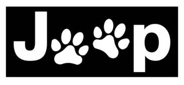 Jeep Logo Decal All Things Jeep Jeep Paw Logo Decal Small