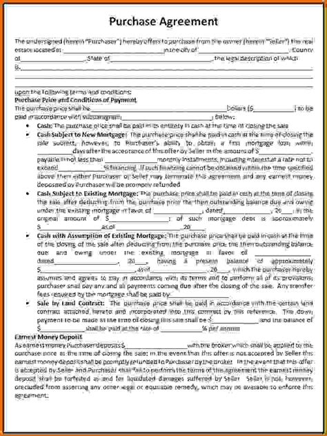 template for purchase agreement lease purchase agreement template microsoft excel