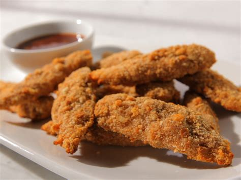 Kitchen Tenders by Crouton Crushed Chicken Tenders With Orange Barbeque Sauce