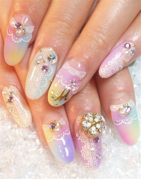 Wedding Bell Nail Design by 30 Must Try Almond Nail Designs