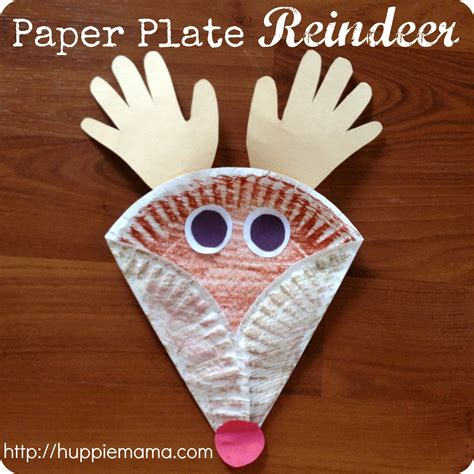 Crafts Out Of Paper Plates - reindeer crafts craft paper