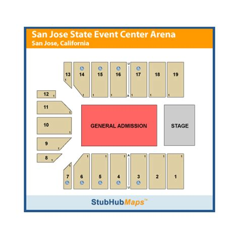 san jose event center map the event center at san jose state events and