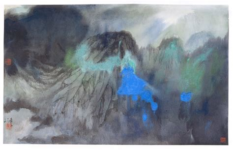 znag painting teachartwiki splashed color landscape zhang daqian