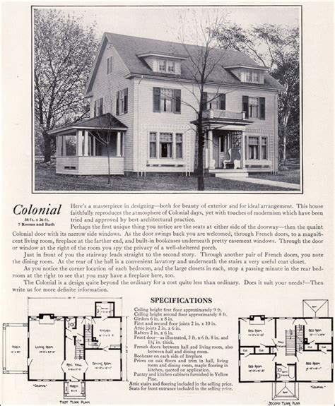 1920 colonial homes 1920 colonial revival house plans