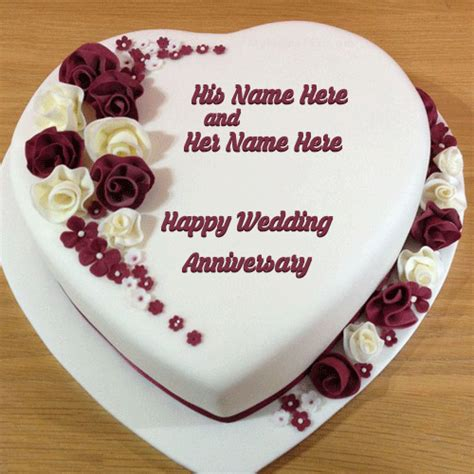 Wedding Cake With Name cool wedding marriage anniversary cakes images with names