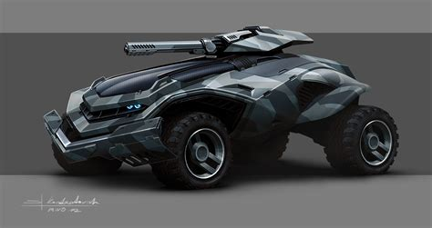 futuristic military jeep mwo army vehicle concept art 5 picture 2d automotive