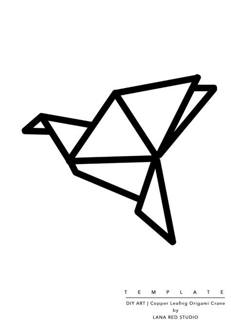 Origami Crane Template - diy copper leafing