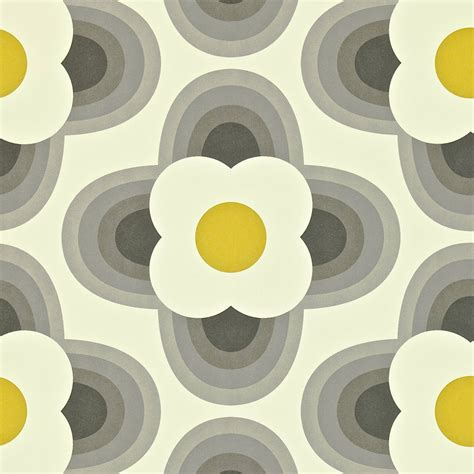 striped petal wallpaper graphite  harlequin
