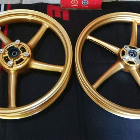 Disc Set Depan Belakang R15 Gold Jual Racing Boy Velg Pelek Set 1 85 2 50 Ring 17 Sp522