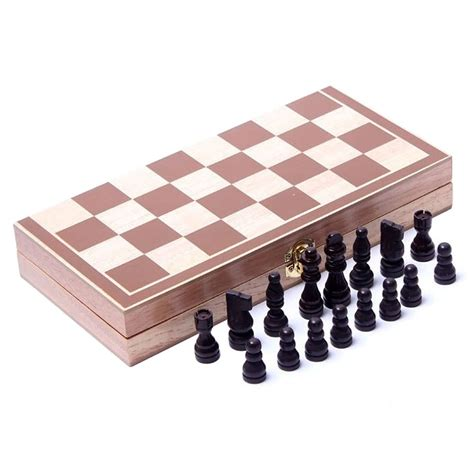 wooden chess set wooden folding chess set chess game set with board ebay