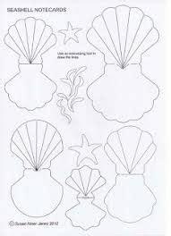 Clam Shell Card Template by R 233 Sultats De Recherche D Images Pour 171 Seashell Template