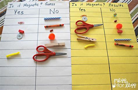 kindergarten activities magnets preschool science magnet exploration mess for less