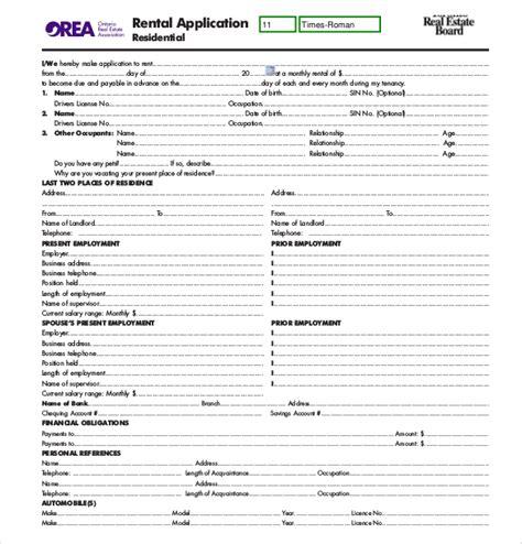 printable lease agreement mn sle rental applications sle minnesota rental