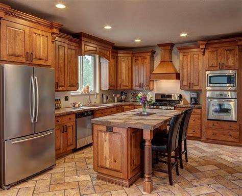 Rustic Cabinets For Kitchen Rustic Cherry Kitchen Cabinets Home Furniture Design