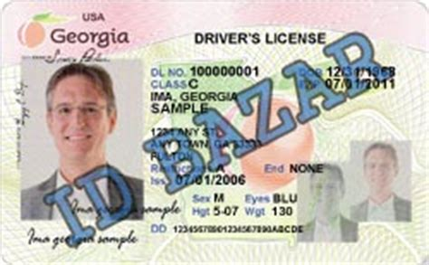 georgia driver license psd template