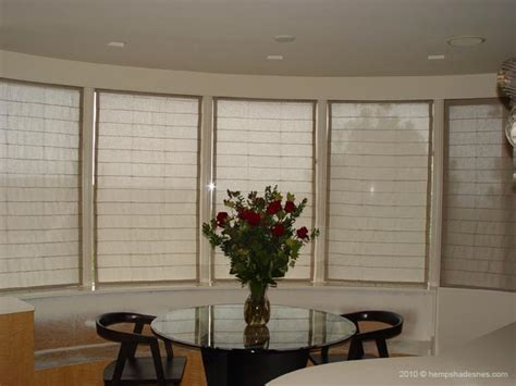 bow window treatments pictures hemp shades blinds for bay or bow window treatment