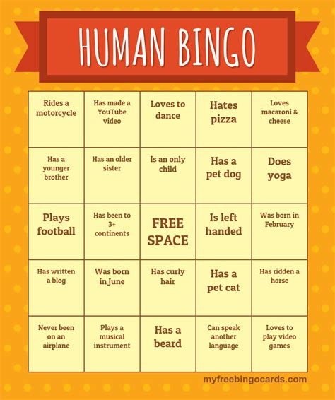 human bingo template search results for bingo printable free