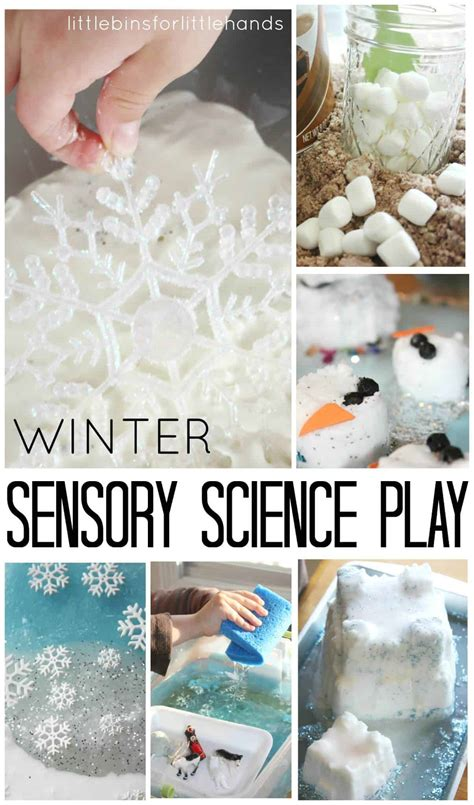 winter sensory table ideas  bins   hands