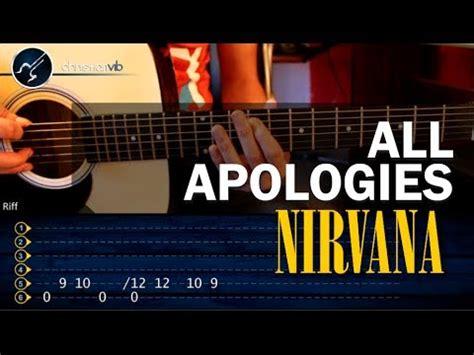 youtube tutorial nirvana como tocar all apologies nirvana en guitarra acustica
