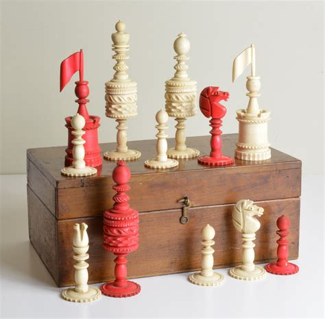 fancy chess set fancy english bone set antique chess shop