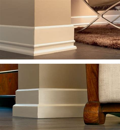modern molding and trim tile skirting vs wood baseboard molding tile baseboards