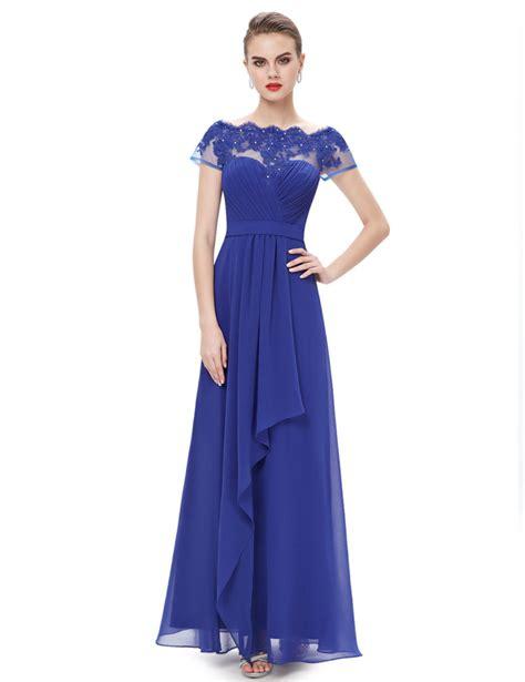 boat neck bridesmaid dress uk boat neck sheer lace top bridesmaid dress royal blue