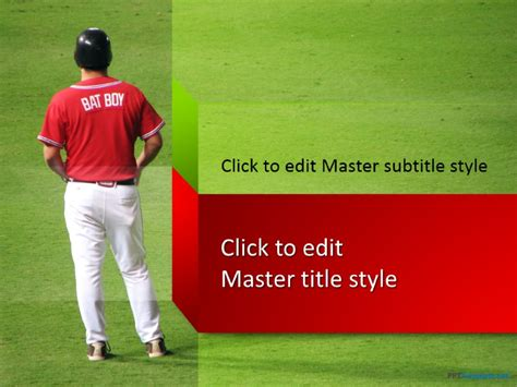 baseball powerpoint template free free baseball field ppt template