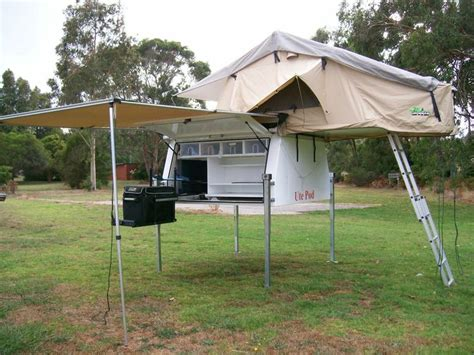 roof top tent awning utepod ute pod slide on cer with roof top tent awning