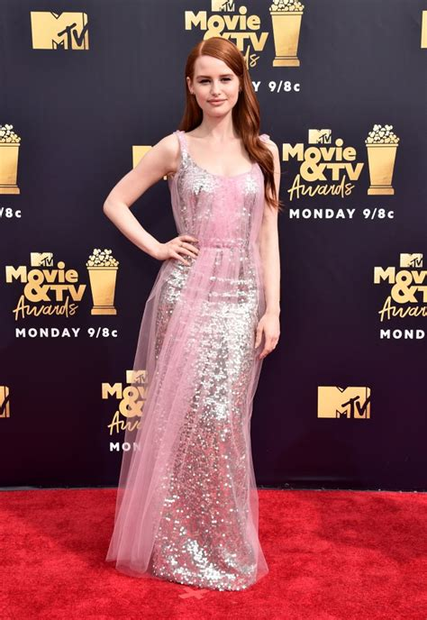 madelaine petsch pink madelaine petsch mtv movie and tv awards red carpet