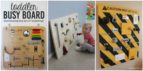 Turkey Crafts For Kids - this diy toddler busy board will keep little ones busy for hours