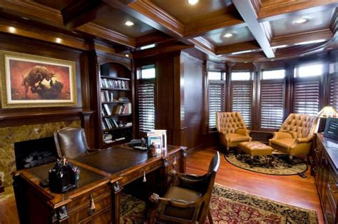 robusto room josh s study leather furniture fireplace walls ceiling ideas for the home