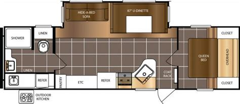 avenger travel trailer floor plans 2017 forest river avenger 27rbs