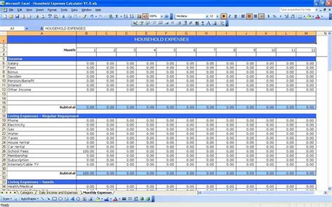 Numbers Household Budget Template Driverlayer Search Engine Numbers Personal Budget Template