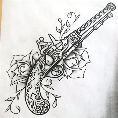 tattoo gun drawing pistol tattoos on gun tattoos browning