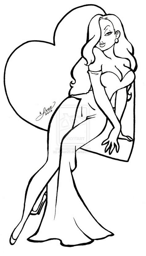 jessica rabbit coloring pages color pages pinterest