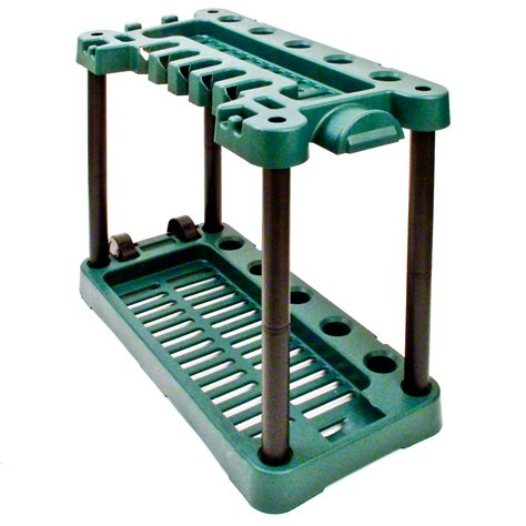 Tool Storage Rack by Garden Tool Storage Rack Holder On Wheels Shed Gardening