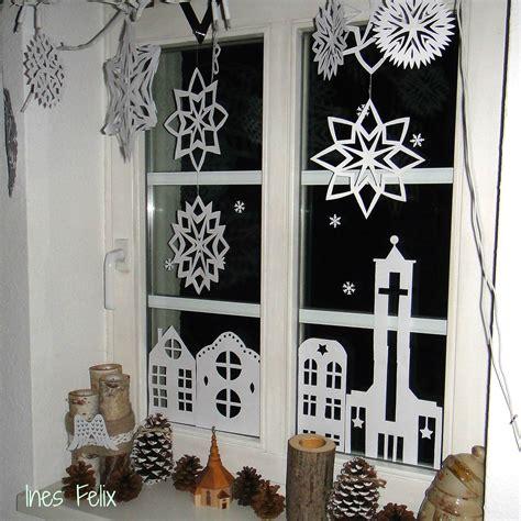 Weihnachtsdeko Fenster Einfach by Weihnachts Fensterdeko Aus Papier Das Ist Die