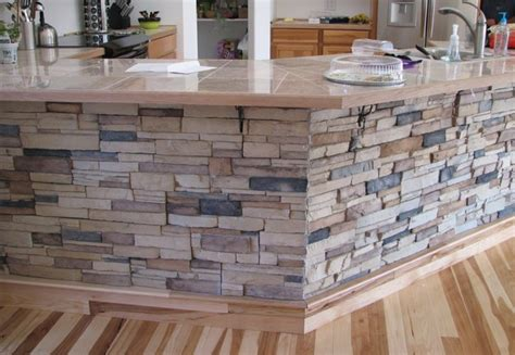 stone island kitchen kitchen island stone veneer