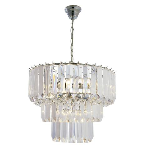 Chandelier Ceiling Light Chatsworth Three Tier Pendant Chandelier