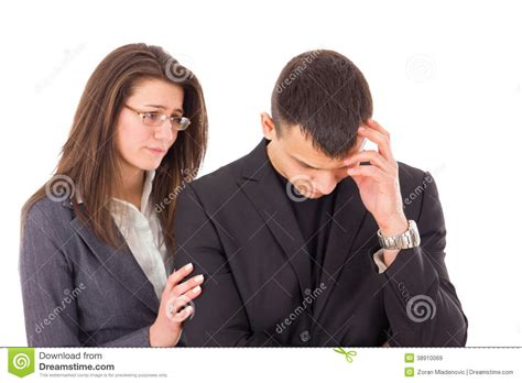 how to comfort a crying man supporting woman consoling sad man stock photo image