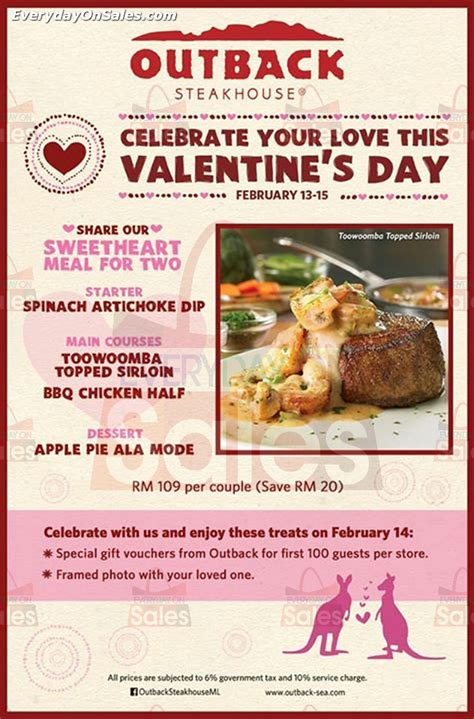 outback valentines special outback steakhouse s day promotion