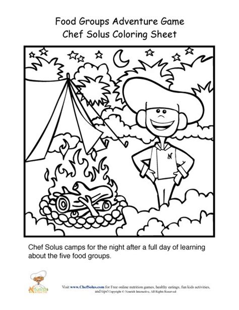 chef solus and explorers go grocery shopping in solusville food pyramid adventure game chef solus cing coloring page