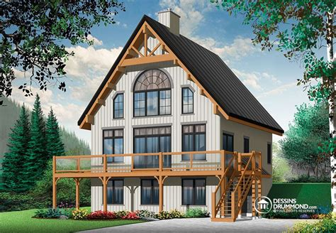 ski chalet house plans toiture d acier pour chalet de ski blogue dessins drummond