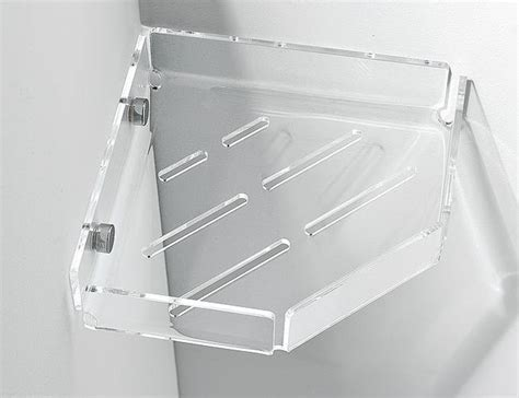 plexiglass corner shower soap holder soap